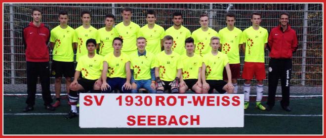 Die B-Jugend Mannschaft des SV 1930 Rot-Weiss Seebach e.V. 2014/15