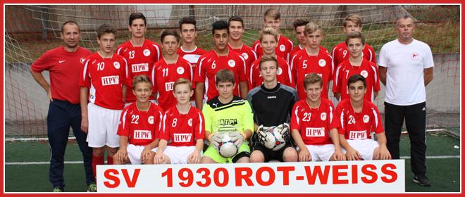 Die C1-Jugend Mannschaft des SV 1930 Rot-Weiss Seebach e.V. 2014/15