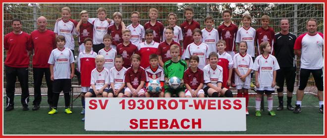 Die D-Jugend Mannschaft des SV 1930 Rot-Weiss Seebach e.V. 2014/15