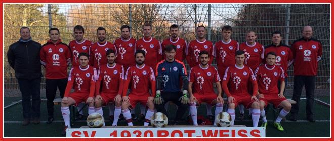 Die 1. Mannschaft des SV 1930 Rot-Weiss Seebach e.V.