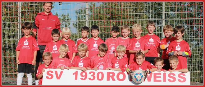 Die F-Jugend Mannschaft des SV 1930 Rot-Weiss Seebach e.V. 2014/15