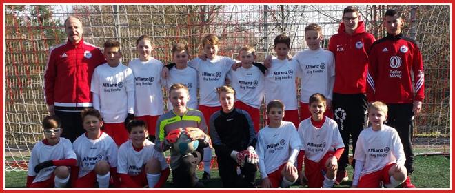 Die D1-Jugend Mannschaft des SV 1930 Rot-Weiss Seebach e.V. 2015/16