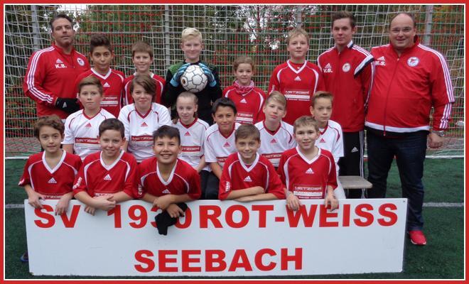 Die D2-Jugend Mannschaft des SV 1930 Rot-Weiss Seebach e.V. 2015/16