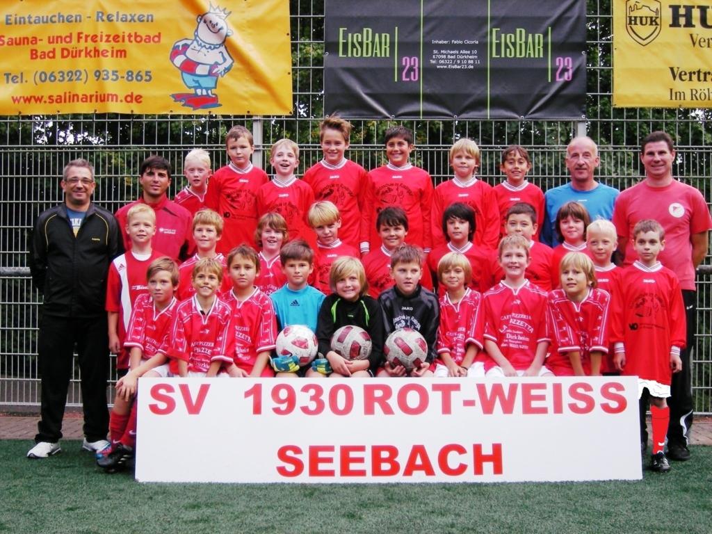 Die E-Jugend Mannschaft des SV 1930 Rot-Weiss Seebach e.V. 2012/13