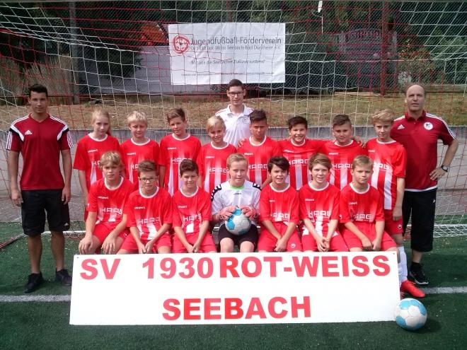 Die D1-Jugend Mannschaft des SV 1930 Rot-Weiss Seebach e.V. 2016/17