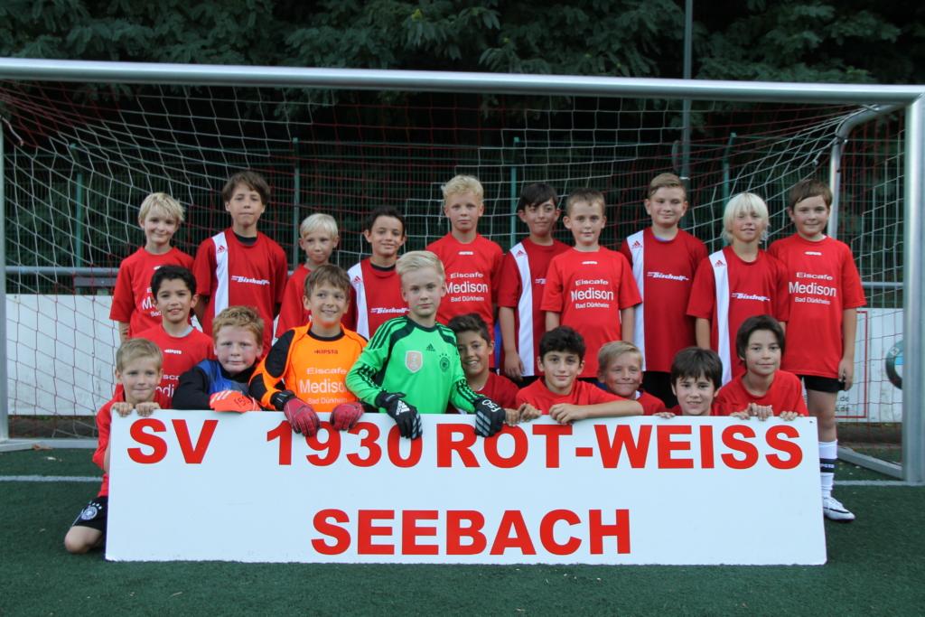 Die E-Jugend Mannschaft des SV 1930 Rot-Weiss Seebach e.V. 2016/17