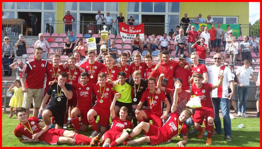Mannschaftsfoto Pokalsieg A Jugend 2016