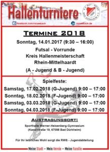 Plakat Hallenturniere 2018